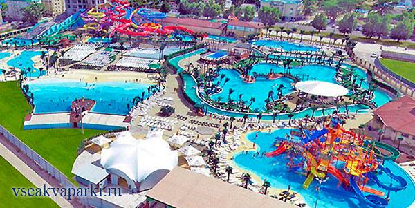 Общий вид на аквапарк Тики Так