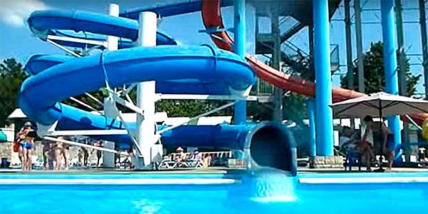 Горки в аквапарке Бегемот