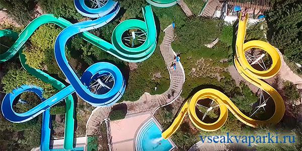 Горки аквапарка Миндальная роща